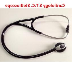 1PC Black Professional Cardiology S.T.C Stethoscope for Medi