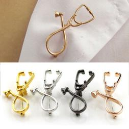 1PC Stethoscope Brooch Pin for Doctor Medical Student Jewelr