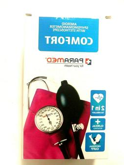 Paramed Aneroid Blood Pressure Kit Comfort Pink New