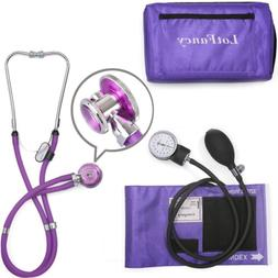 Aneroid Sphygmomanometer and Stethoscope Kit, LotFancy Manua