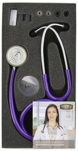Aneroid Stethoscope with Clinical Lite Kit - Color: Purple