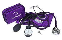Dixie Ems Blood Pressure and Dual Head Stethoscope Kit Purpl