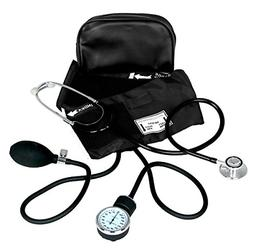 Dixie Ems Blood Pressure and Dual Head Stethoscope Kit BLACK