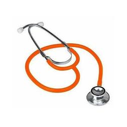 Brand New Professional Double Dual Head ORANGE Stethoscope I