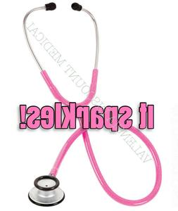 Prestige Medical Clinical Lite Stethoscope Hot Pink Sparkles
