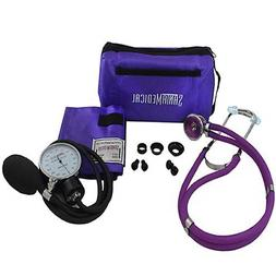 Santamedical Adult Deluxe Aneroid Sphygmomanometer with Stet