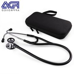 Dual Head Nurses Stethoscope with Hard Case Accessories Kit