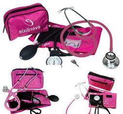 Ems Stethoscope And Manual Adult Blood Pressure Kit Pink  Sp