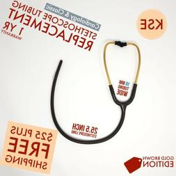 Gold Brown Stethoscope replacement tubing 10mm by Kongs Ente