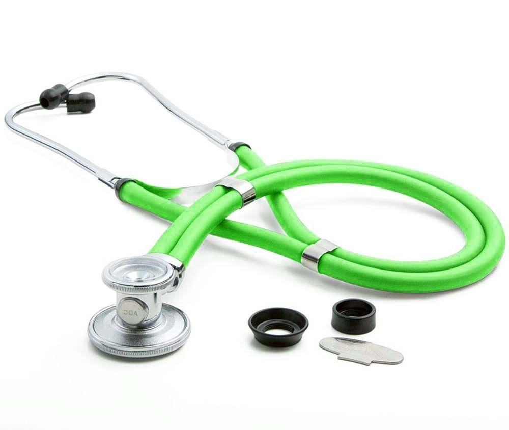adc 641 adscope sprague stethoscope neon orange