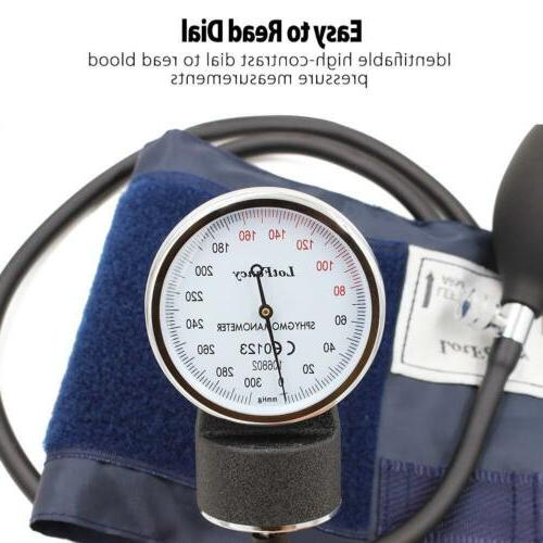 Aneroid Sphygmomanometer Stethoscope Kit Manual Blood Adult Cuff