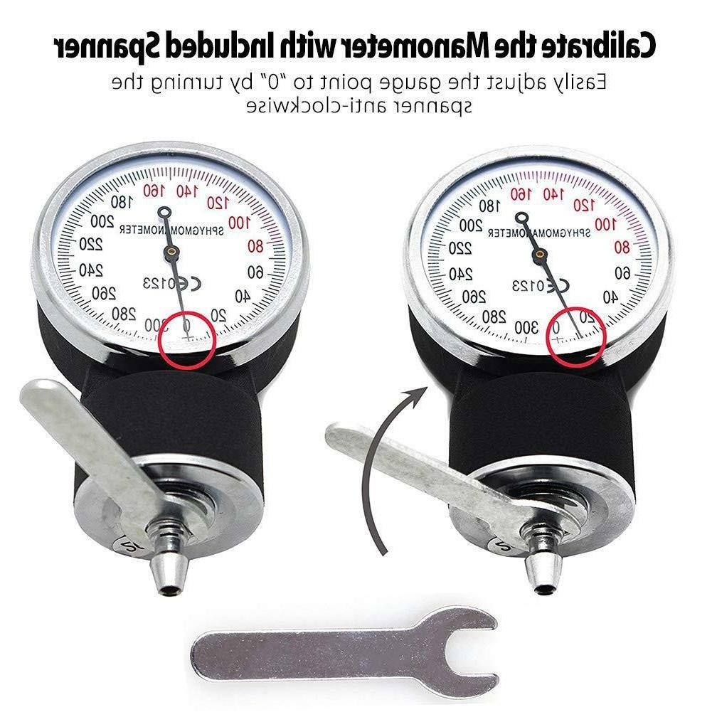 Aneroid Sphygmomanometer Stethoscope Kit Manual Blood Pressure Adult