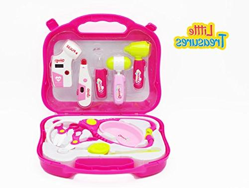 doctor medical play set pink