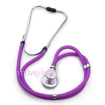 Doctor Nurse Stethoscope Ear Tips Kit Steel Chestpiece Black