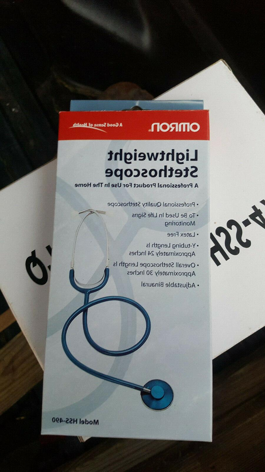 new lightweight single head stethoscope blue model