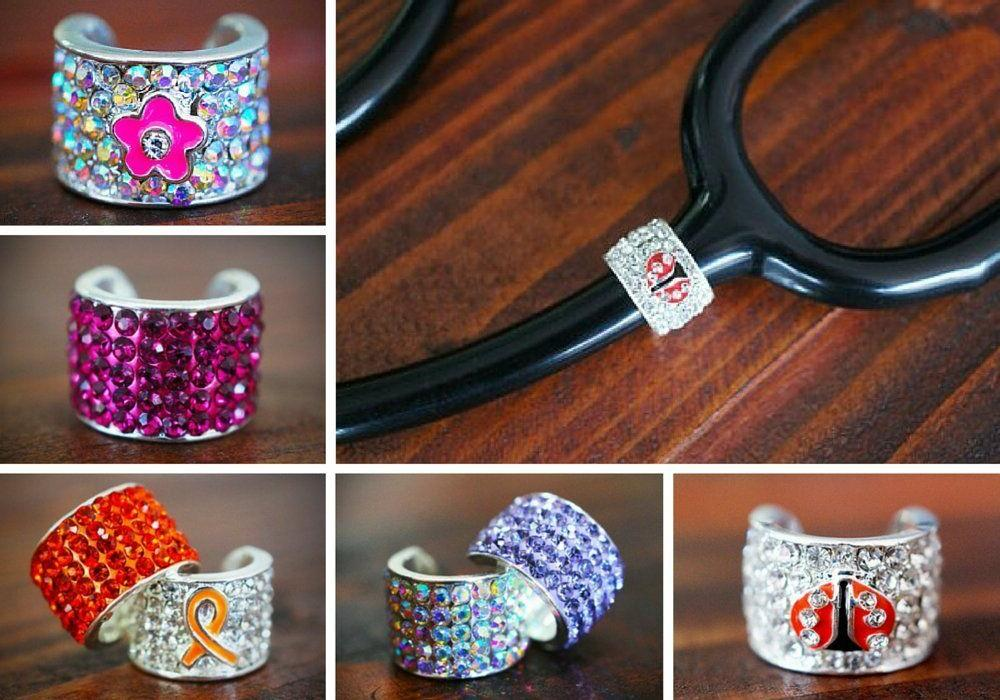 CharMed Crystal Stethoscope Charms