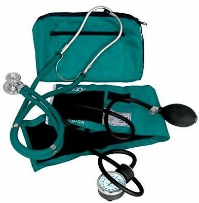 Blood Pressure Monitor Teal Cuff Manual And Medical Stethosc