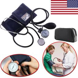 Manual Blood Pressure Monitor Cuff Aneroid Gauge Sphygmomano