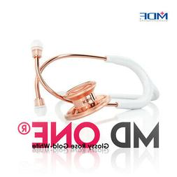 MDF MD One Premium Stethoscope - White Rose Gold