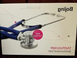 Bojing Multifunctional Type Stethoscope,FDA Approved,Blue Tu