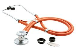 NEW IN BOX NEON ORANGE SPRAGUE RAPPAPORT STETHOSCOPE BY ADC
