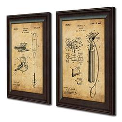 2 pc Physician Doctor Patent Prints - Otoscope and Stethosco