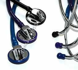 Professional Cardiology Stethoscope BLACK, BLUE, PURPLE 14a