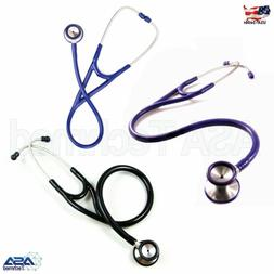 Professional Cardiology Stethoscope BLACK, BLUE, PURPLE, Sta
