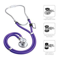 MDF Sprague Rappaport Dual Head Stethoscope with Adult, Pedi