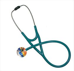 Ultrascope Adult Stethoscope, Palm Tree Design, Orange/Teal