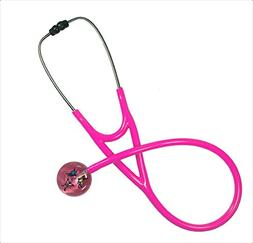 Ultrascope Adult Stethoscope, Butterflies Design, Light Pink