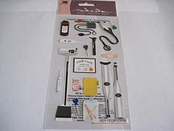 Sticker Scrapbooking Sticko Doctor Scale Shot Band Aid Steth