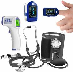 Thermometer Pulse Oximeter Blood Oxygen SpO2 Monitor Blood P